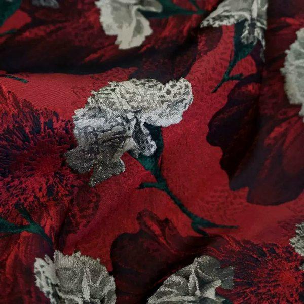 20200916 031116 Italian Designer Jacquard Fabric Carnation pattern Fashion week Jacquard 2021 8