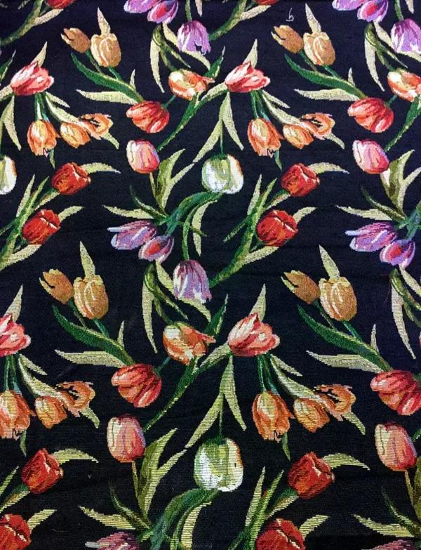 Italian Designer woven Tulip pattern