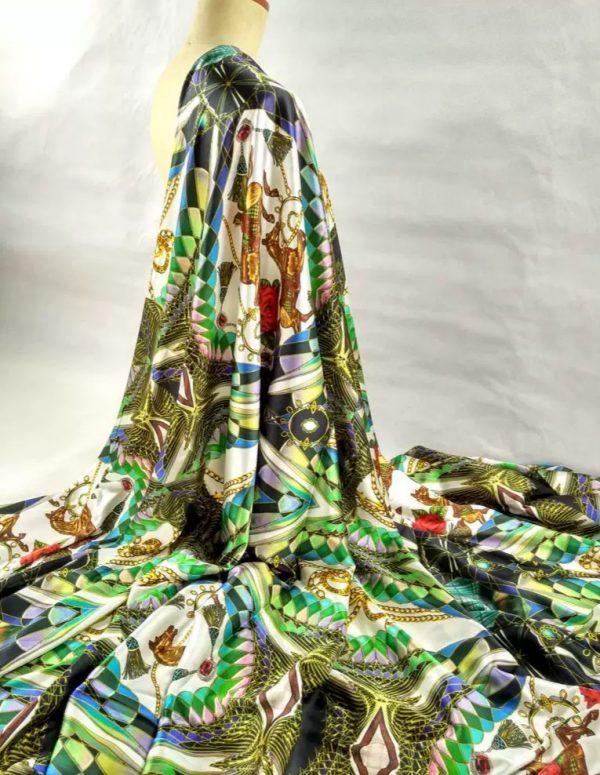 Balenciaga Silk stretch fabric