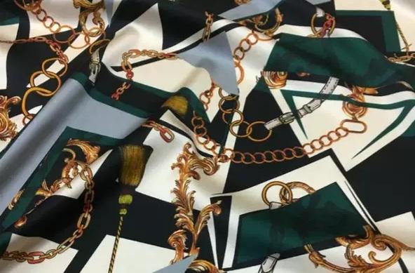 Italian silk fabric Valentino