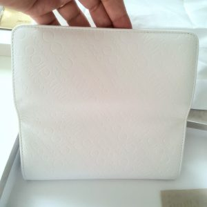 Jimmy Choo Nino Continental Wallet in White Leather with Embossed Logo/WhiteLeather Monogram/Logo wallet/Exclusive Limited collection/New Boxed,Dust bag,Passport and Certificate of Authenticity