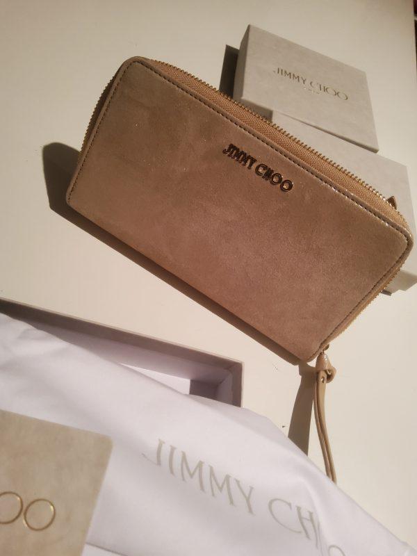 Jimmy Choo Pippa Light Gold Zip Around Wallet