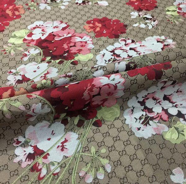 20201019 231015 Gucci bloom jacquard fabric/Italian Designer Fabric/Catwalk Gucci flowers pattern fabric 8