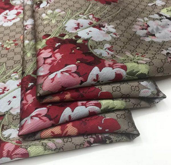 20201019 231133 Gucci bloom jacquard fabric/Italian Designer Fabric/Catwalk Gucci flowers pattern fabric 9