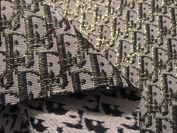 Dior Oblique Very Stiff Jacquard Silver Gold Yarn