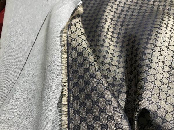 Gucci Jacquard Monogram Print dark Khaki Designer Fabric