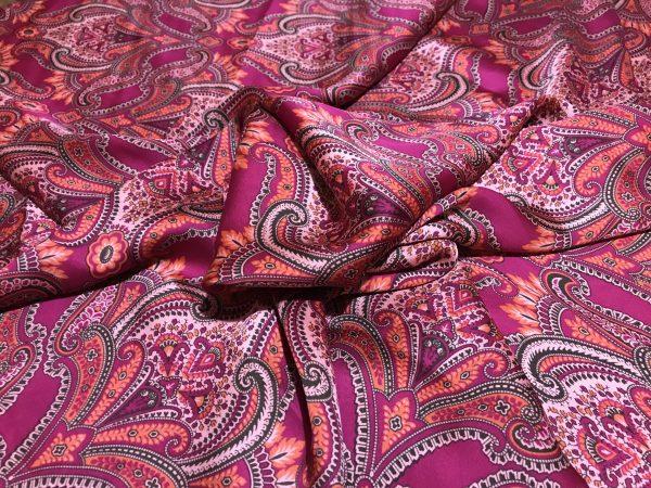 Etro Silk Satin Fabric