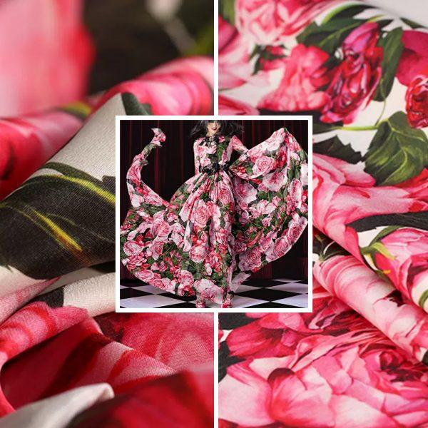 Roses print DG fabric