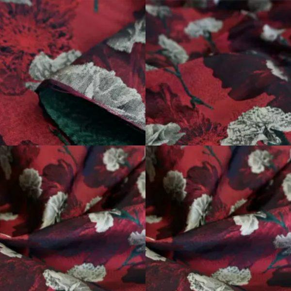 PhotoCollage 20200916 031305044 Italian Designer Jacquard Fabric Carnation pattern Fashion week Jacquard 2021 11