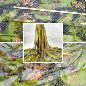 Etro Silk Chiffon fabric/Italian Designer Fabric/2020 FASHION week Fabric