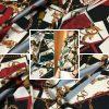 PhotoCollage 20200927 051134441 Italian Designer Chain pattern silk fabric/Classic design fashion week fabric tassel print/Colour #2 /Catwalk Italian silk fabric Valentino 2