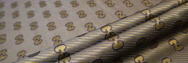 Gucci Jacquard Fabric Gold Yarn Gucci logo