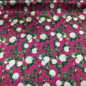 Exclusive Limited Edition Emanuel Ungaro Silk Fabric Hydrangea Design/Heavy Italian Designer Silk Fabric/Couture Silk fabric