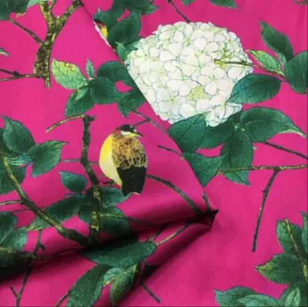 Emanuel Ungaro Silk Fabric Hydrangea Design