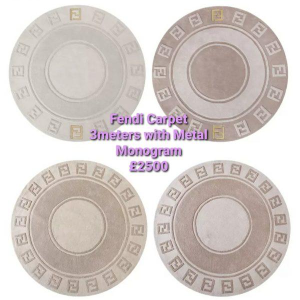 20201005 005758 Fendi Carpet/Luxury Fendi wool Carpet in various shape,colours,size 3 meters with Metal Monogram 3