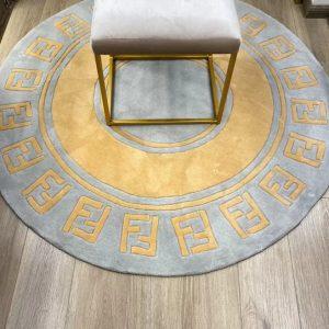Fendi Carpet/Luxury Fendi acrylic Carpet in various shape,colours.Price indicated for #5 100cm/Fendi carpets in various size