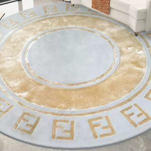 Fendi Acrylic round Carpet