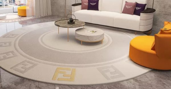 Fendi Acrylic round Carpet