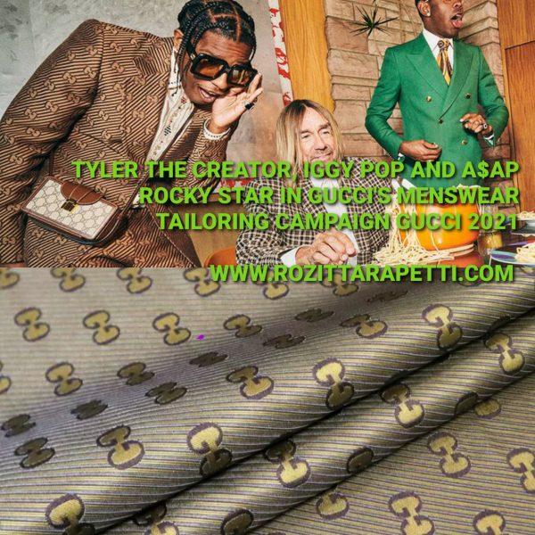 20201011 145008 Gucci Jacquard Fabric Gold Yarn Gucci logo fabric/Italian Designer Fabric 1