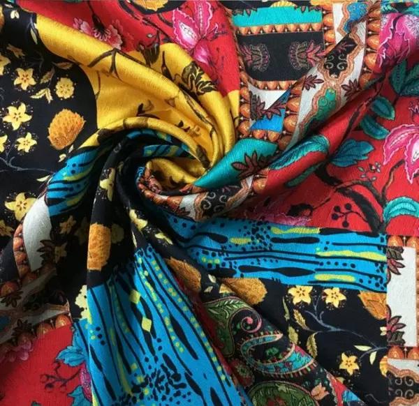 Silk fabric Oscar De La Renta