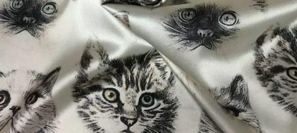Dior Designer cat design silk