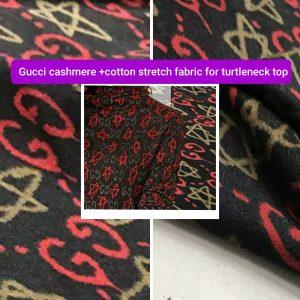 Gucci cashmere stretch cotton fabric