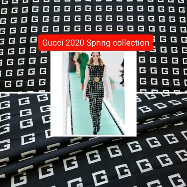 fashion week fabric Gucci
