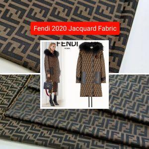 Fendi 2020 fashion week fabric/Fendi brocade fabric/Fendi jacquard cotton polyester