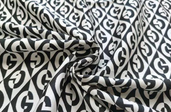 Fashion Week Gucci brocade fabric