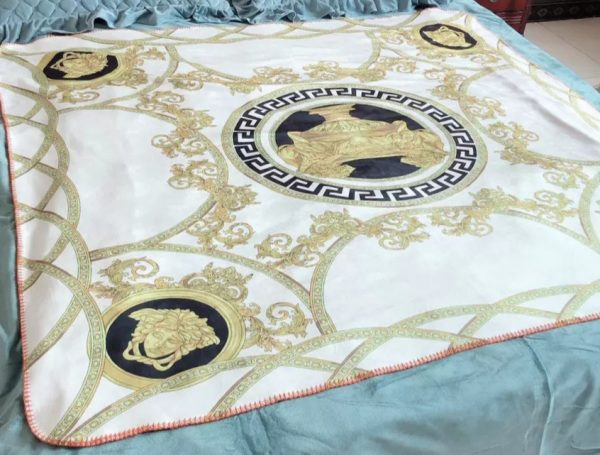 Versace plush bed cover