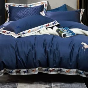 H brand cotton Italian Bedding set/Luxury bed sheets,duvet,pillow cases in various colours/ 260/270cm