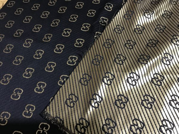 Gucci polyester gold yarn fabric
