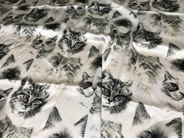 Dior Designer cat design silk fabric