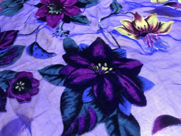 Italian Designer Devore lace silk velvet