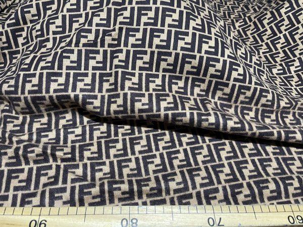 IMG 7295 scaled Fendi jersey Fashion fabric/Fendi stretch cotton Wool fabric/Italian couture fabric 4