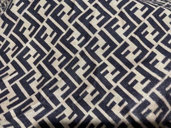 IMG 7296 scaled Fendi jersey Fashion fabric/Fendi stretch cotton Wool fabric/Italian couture fabric 3