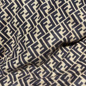 Fendi jersey Fashion fabric/Fendi stretch cotton Wool fabric/Italian couture fabric