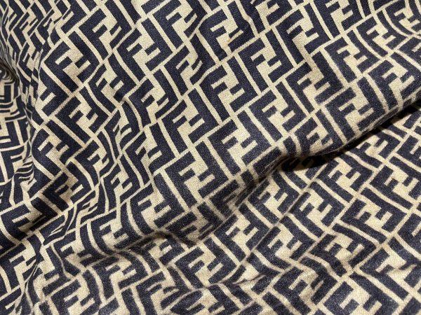 IMG 7297 scaled Fendi jersey Fashion fabric/Fendi stretch cotton Wool fabric/Italian couture fabric 1