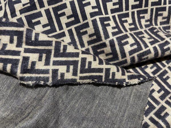 IMG 7298 scaled Fendi jersey Fashion fabric/Fendi stretch cotton Wool fabric/Italian couture fabric 2
