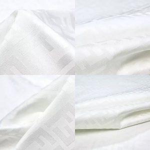 Fendi 2021 fabric white/Italian designer fabric for suit,brocade for jacket and blazer,Fendi wool+cotton+polyester suit jacquard fabric