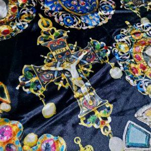 Art Meets Fashion Collection Italian Velvet Fabric Baroque Design