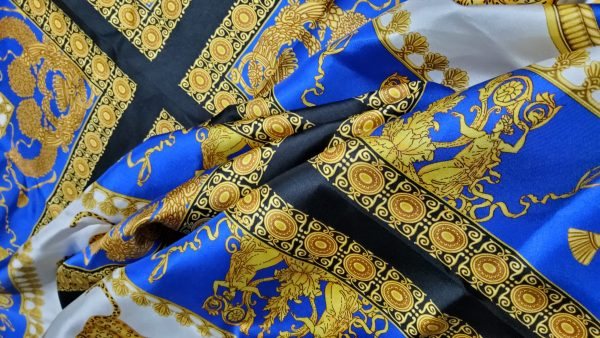20201114 211732 scaled Versace Silk Twill Myphology Theme for Clothing/Limited Edition Versace Ancient Greek Pattern colour#1 Italian fashion week silk fabric 2