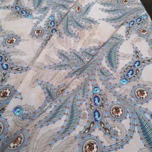 Etro Silk Fabric New Arrivals/2021 Etro Silk Crepe De Chine Rare Design Limited Edition
