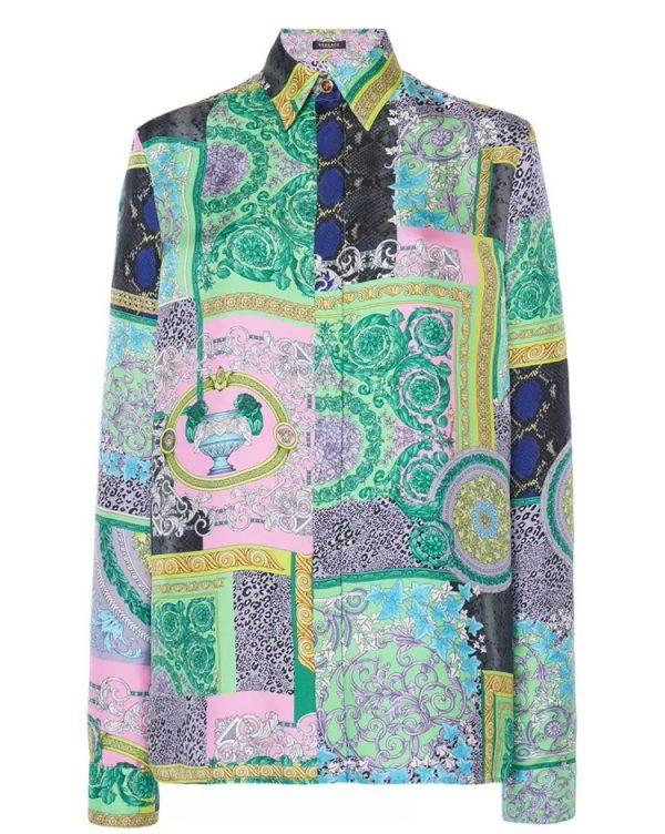 20201128 144035 Versace Silk Satin 2021 Collection/Versace Snake skin pattern New Collection Silk/Versace Shirt fabric 1