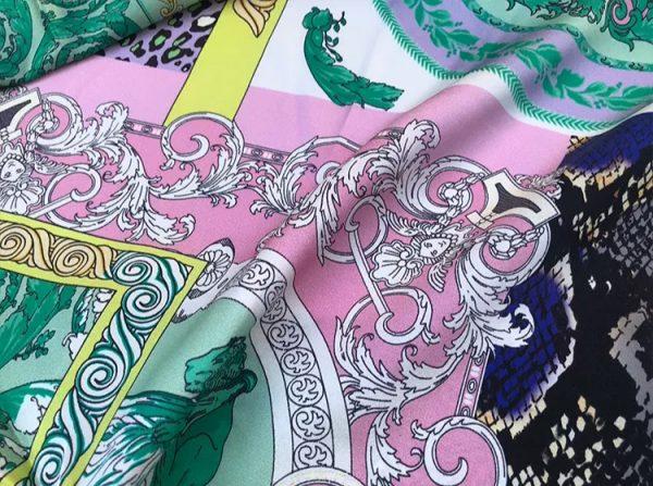 20201128 144139 Versace Silk Satin 2021 Collection/Versace Snake skin pattern New Collection Silk/Versace Shirt fabric 5