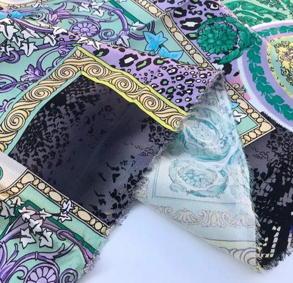 20201128 144327 Versace Silk Satin 2021 Collection/Versace Snake skin pattern New Collection Silk/Versace Shirt fabric 11