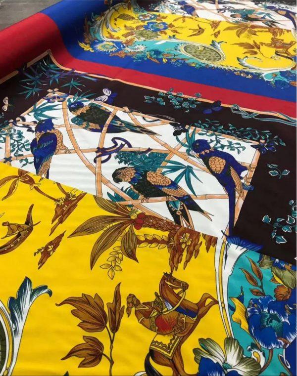 Salvatore Ferragamo Silk Stretch Fabric