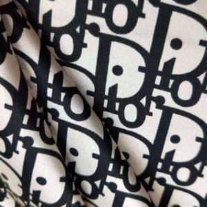 Dior Silk Satin Fabric/2021 Fashion Week Couture Silk Fabric