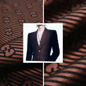 Gucci Fabric Brocade Fashiin week 2021 Gucci 3D jacquard Fabric