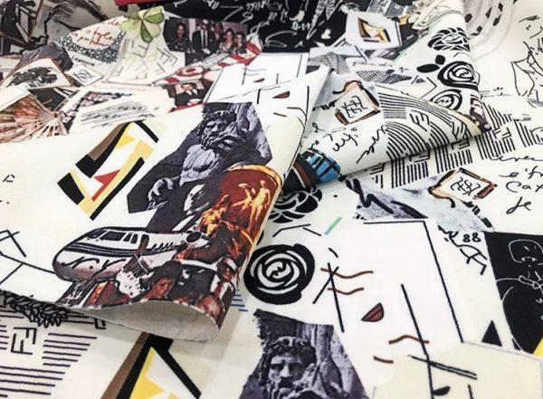 Fendi Fabric Silk Satin 2021 Collection/Fendi Silk Twill fabric,also available in Silk Satin/colour #2 Multiple colours